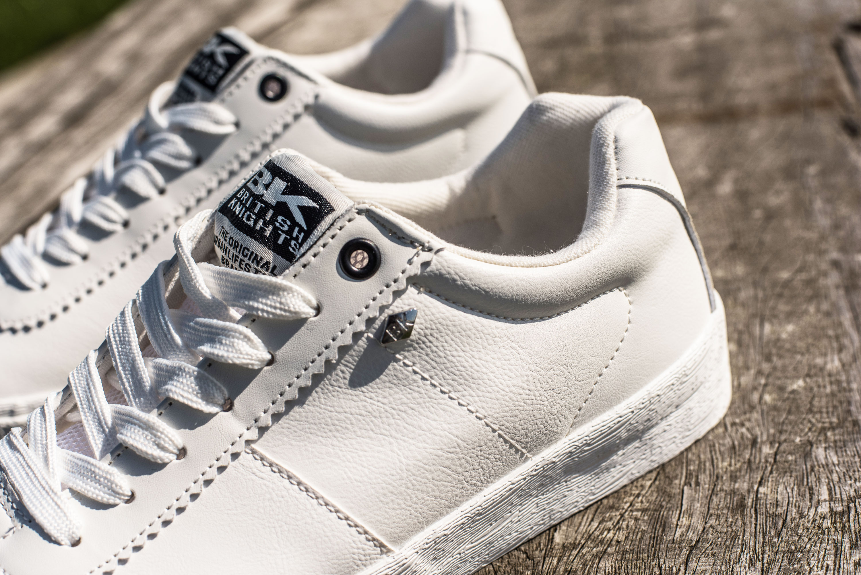 Men White Sneakers - British Knights SOLAR