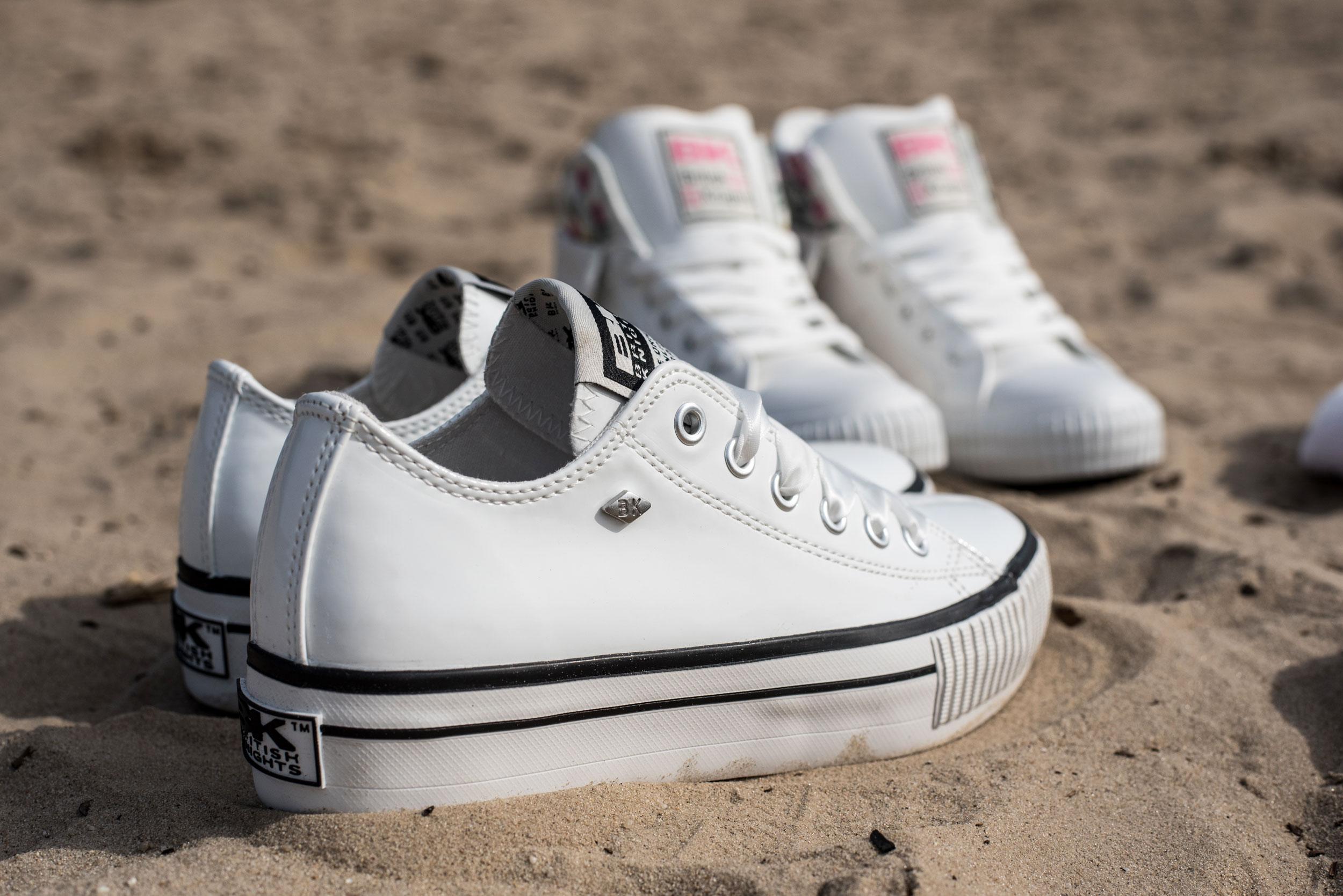 White shoes - British Knights MASTER PLATFORM