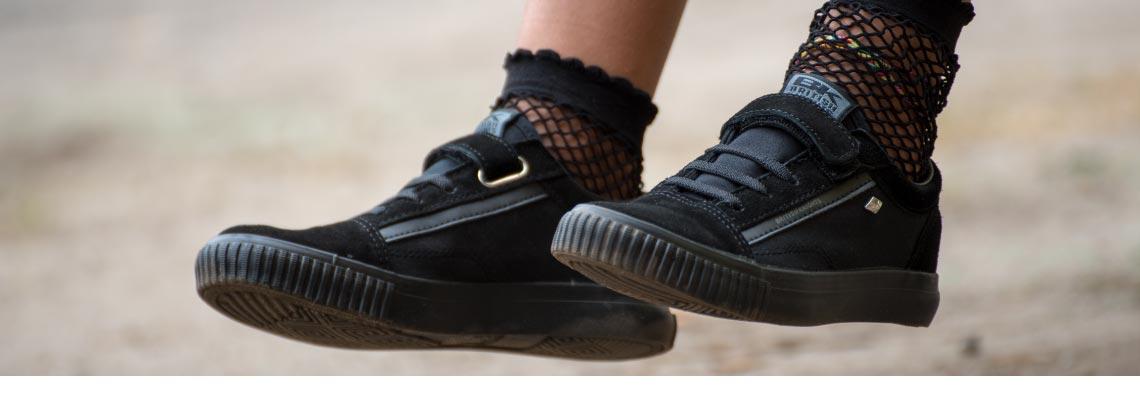 All Black Kids Sneakers